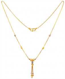 22K Gold Two Tone Fancy Chain ( Gold Fancy Chains )