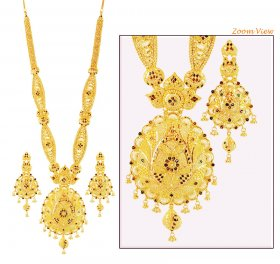 22K Fancy Meenakari Bridal Haar Set ( 22K Necklace Sets (Long) )