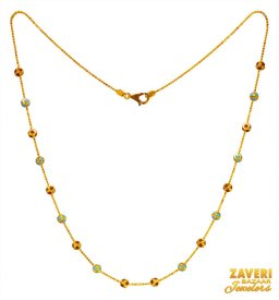 22k Gold Beads Chain ( Gold Fancy Chains )