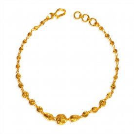 22K Gold Balls Bracelet For Ladies ( 22K Ladies Bracelets )