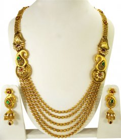 22k Exclusive Bridal Necklace Set ( 22K Necklace Sets (Long) )