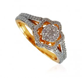18K Gold Diamond Ring ( Diamond Rings (Ladies) )