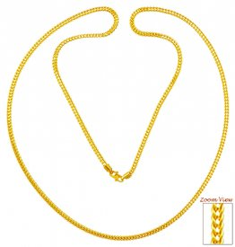 22K Gold Mens Chain (24In) ( Plain Gold Chains )