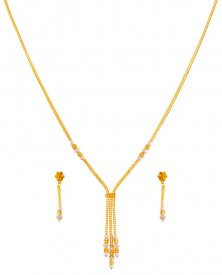 22k Light  Ball Necklace Set ( 22K Light Necklace Sets )