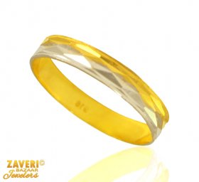 Gold Fancy Two Tone Band ( Gold Wedding Bands )