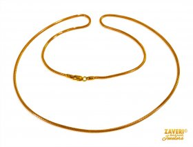 22KT Gold Unisex Chain (22 Inch) ( Gold Fancy Chains )
