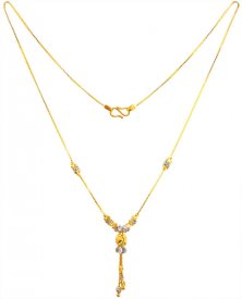 22K Gold Two Tone Neck Chain ( Gold Fancy Chains )