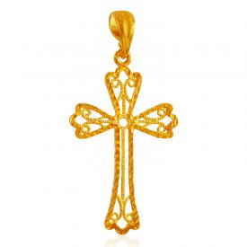 22 Karat Gold Cross Pendant