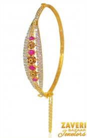 22k Gold Signity Stone Bangle  ( Gold CZ Bangles )