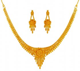 22K Light Construction Necklace Set ( 22K Light Necklace Sets )