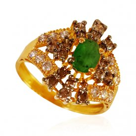 22kt Gold Emerald Ring ( Stone Rings )