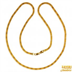 22kt Gold Flat Chain (16 inches) ( Plain Gold Chains )