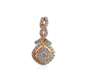 18Karat Yellow Gold Diamond Pendant ( Diamond Pendants )