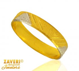 22 Kt Two Tone Ring (Band) ( Gold Wedding Bands )