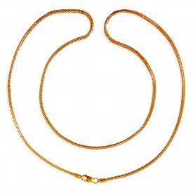 22Kt Gold Plain Chain(20inch) ( Plain Gold Chains )