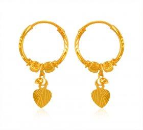 22 Kt Gold Hoop Earrings 22k Hoops