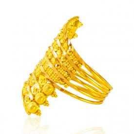 22kt Gold Spiral Ring for Ladies ( 22K Gold Rings )