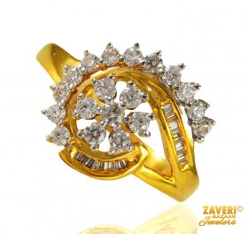 22 Karat Gold Signity Ring for Ladies
