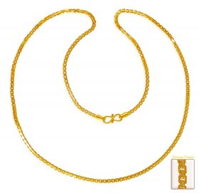 22Kt Gold Box Chain ( Plain Gold Chains )