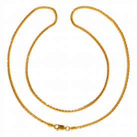 22kt Gold Fancy Chain for Ladies