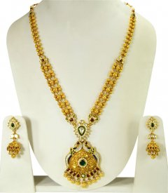 22K Kundan Patta Bridal  Set ( 22K Necklace Sets (Long) )