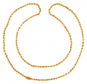 22kt Gold Tulsi Mala ( Long Chains (Ladies) )