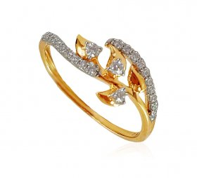 Fancy Gold 18K Diamond Ring
