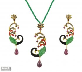 Exclusive Peacock Pendant Set ( Nizam Collection (Victorian) )