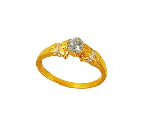 Solitaire Ring 22k
