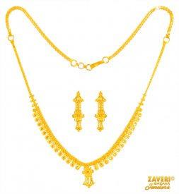 22 Karat Gold Necklace Set ( 22K Light Necklace Sets )