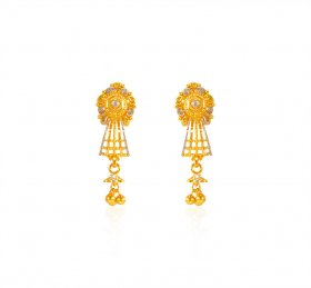 22KT Gold Two Tone Fancy Earrings