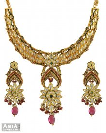 22k Antique Designer Kundan Set