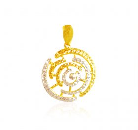 22 Kt Gold Two Tone Pendant