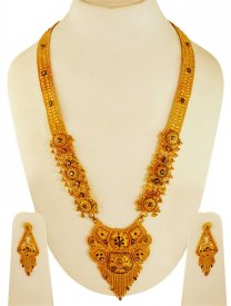 22K Gold Bridal Patta Haar ( 22K Necklace Sets (Long) )