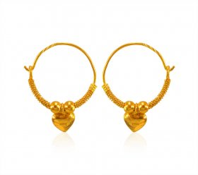 22Kt Gold Hoops (KIDS) ( 22K Gold Hoops )