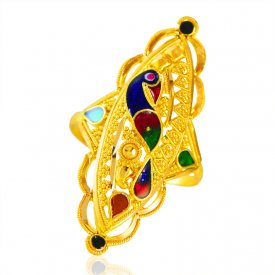 22Karat Gold Peacock Ring ( 22K Gold Rings )