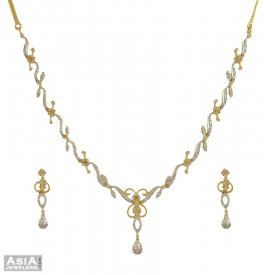 18k Fancy Diamond Necklace Set