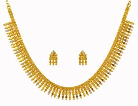 22K Gold Mullamottu Mala ( 22K Gold Necklace Sets )