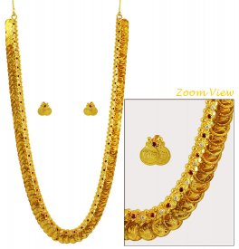 22K Gold Kasulaperu Set ( 22K Gold Necklace Sets )