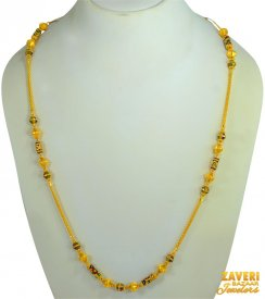 22 kt Fancy Balls Gold Chain  ( Long Chains (Ladies) )