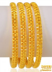 22K Gold Bangles Set of 4