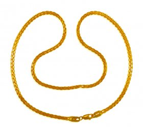 22 kt Gold long chain