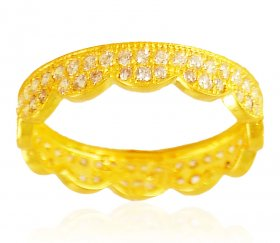 22kt Gold Cubic Zircon Band
