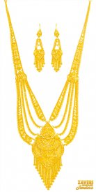 22 Karat Gold Necklace Set ( 22K Necklace Sets (Long) )