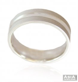 White Gold Wedding Band 18K