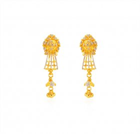 22KT Gold Two Tone Earrings
