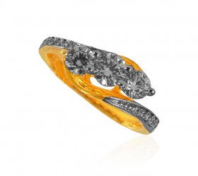 22Kt Gold CZ Ladies Ring ( Stone Rings )