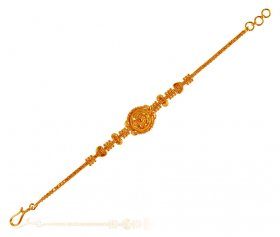 22K Gold Light Weight  Bracelet ( 22K Ladies Bracelets )