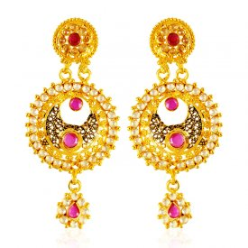 22 Karat Gold Antique Earrings