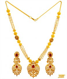 Designer 22 Kt Gold Necklace Set